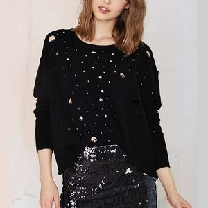 NASTY GAL Begging for Thread Knit Grunge Sweater